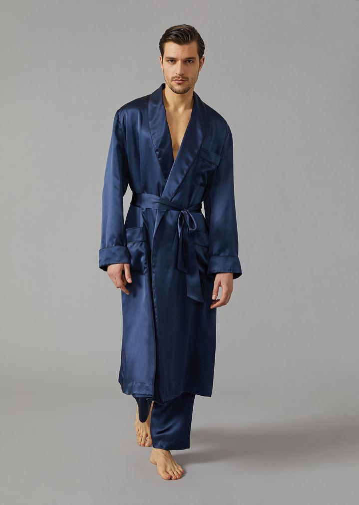 d21609028b8a Шёлковый халат с вышитым логотипом | Мужской | Giorgio Armani