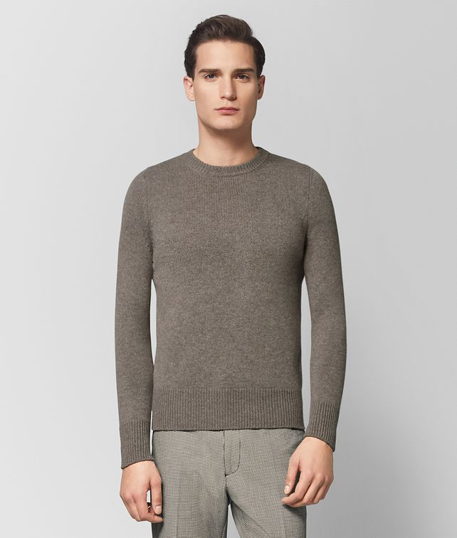 BOTTEGA VENETA DARK CEMENT CASHMERE SWEATER Knitwear Man fp