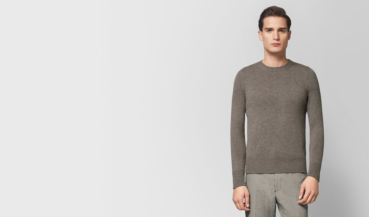 dark cement cashmere sweater landing