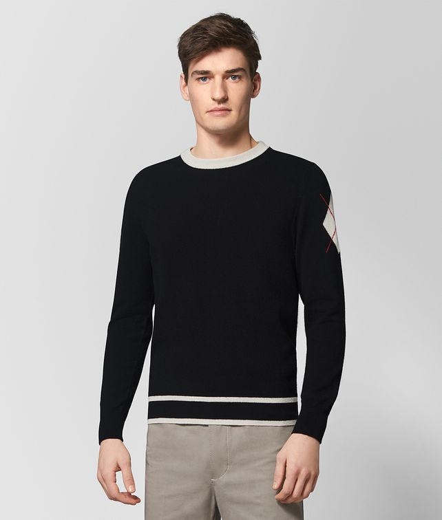 BOTTEGA VENETA NERO CASHMERE SWEATER Knitwear Man fp