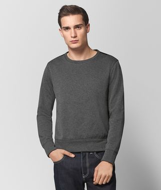 NEW LIGHT GREY COTTON SWEATER