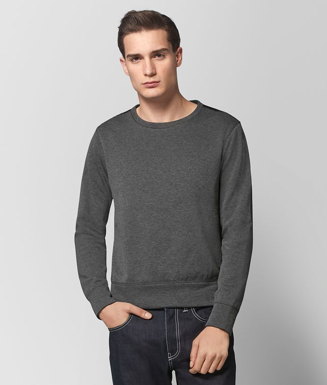 BOTTEGA VENETA NEW LIGHT GREY COTTON SWEATER Knitwear Man fp