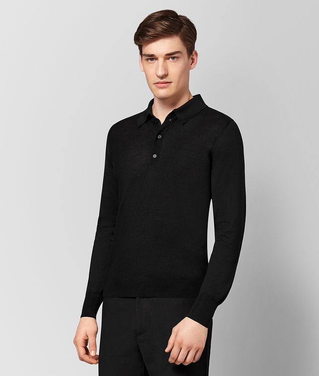 BOTTEGA VENETA NERO SILK COTTON SWEATER Knitwear [*** pickupInStoreShippingNotGuaranteed_info ***] fp