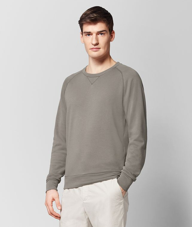 BOTTEGA VENETA STEEL COTTON SWEATSHIRT Knitwear [*** pickupInStoreShippingNotGuaranteed_info ***] fp