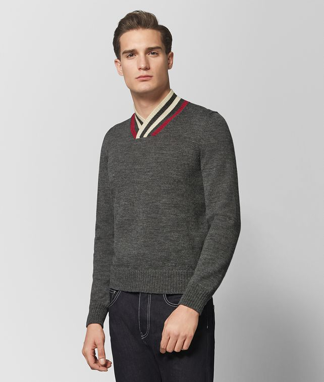 BOTTEGA VENETA DARK GREY WOOL SWEATER Knitwear [*** pickupInStoreShippingNotGuaranteed_info ***] fp