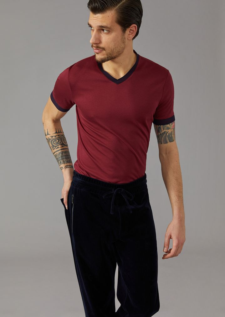 72a862fe36 T-shirt in silk and viscose jersey