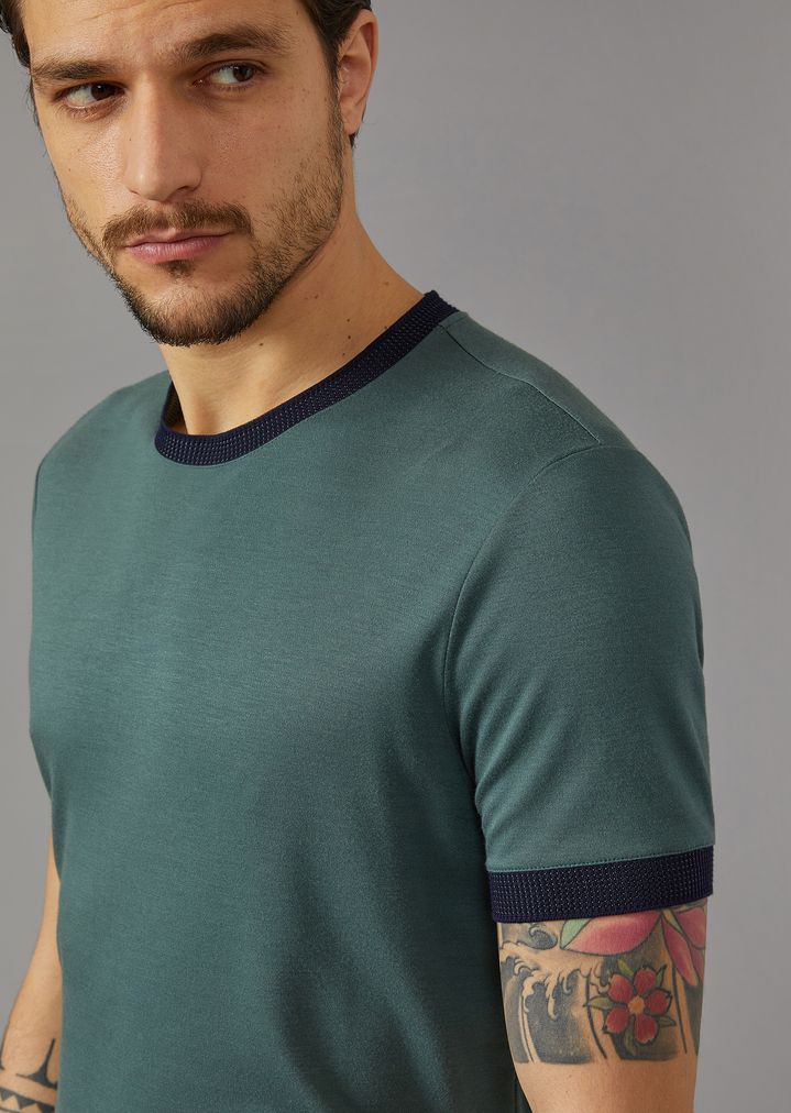 GIORGIO ARMANI T-shirt in silk and viscose jersey T-Shirt Man a
