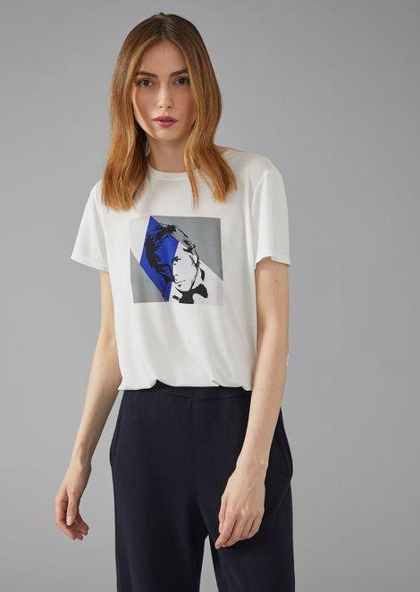 T-shirt with Giorgio Armani photographic print