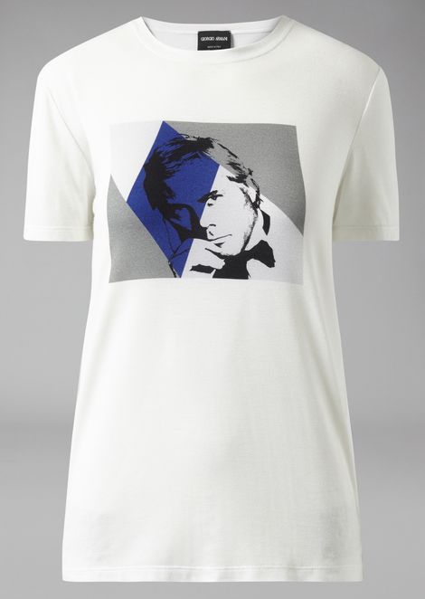 T-shirt with Giorgio Armani photographic print