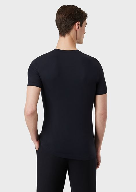 V-NECK STRETCH JERSEY T-SHIRT