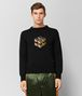 BOTTEGA VENETA NERO/MUSTARD WOOL SWEATER Knitwear Man fp