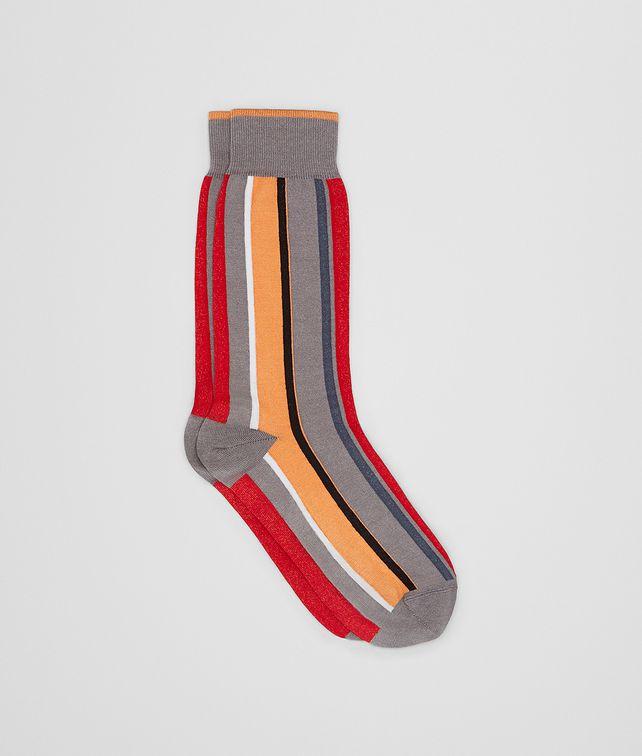 BOTTEGA VENETA FLAME/ORANGE COTTON SOCKS Socks Man fp