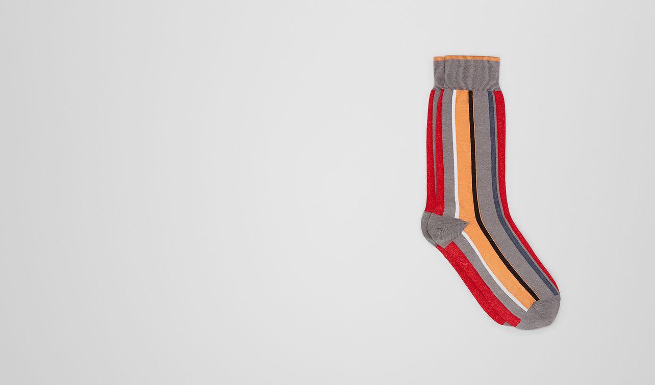 flame/orange cotton socks landing