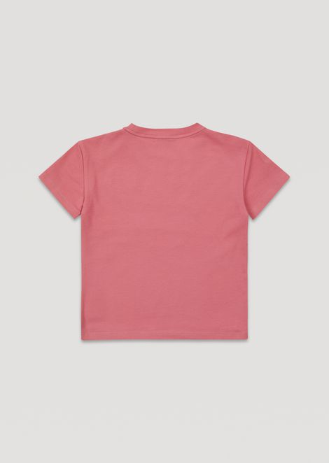 Cotton T-shirt with embroidered logo
