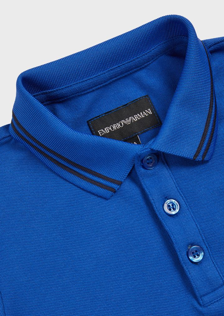 7df8c8066 Short-sleeved polo shirt with embroidered logo