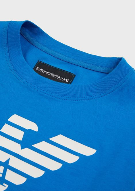 Long-sleeved jersey top with large logo
