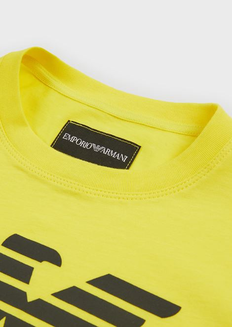 T-shirt in cotton jersey with large logo