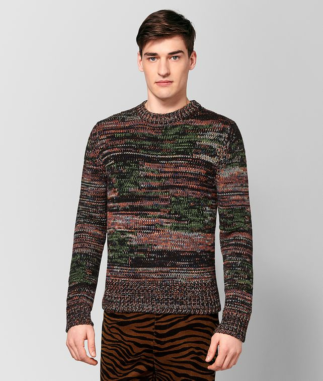 BOTTEGA VENETA MULTICOLOR WOOL SWEATER Knitwear Man fp