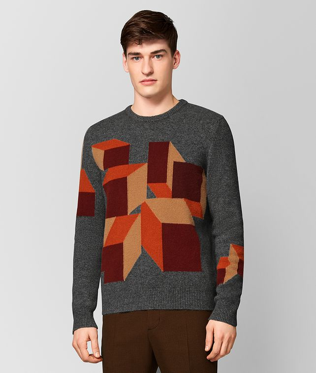BOTTEGA VENETA MULTICOLOR CASHMERE SWEATER Knitwear Man fp