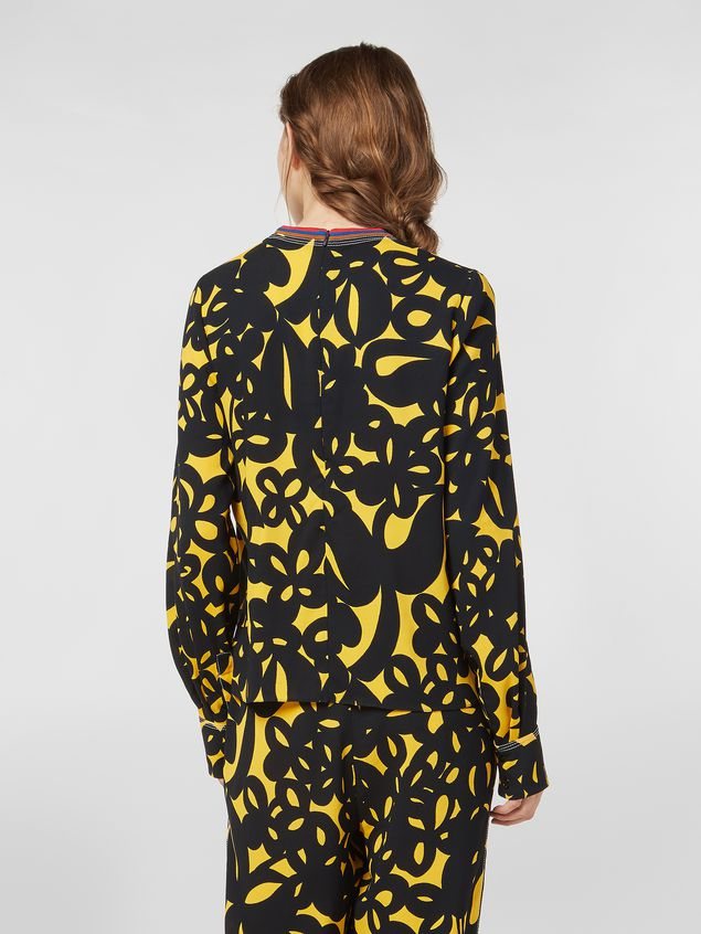 Marni Sablé viscose shirt with Danna print Woman