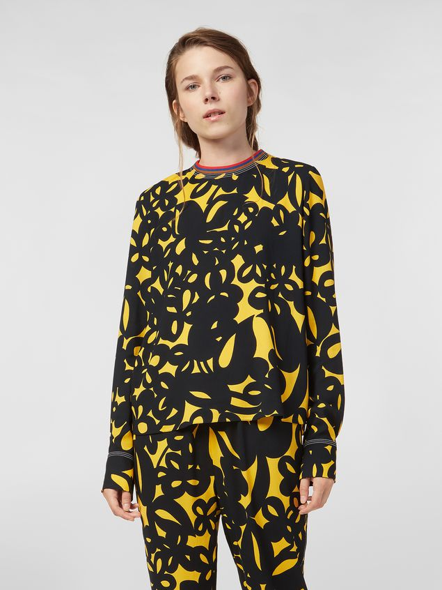 Marni Sablé viscose shirt with Danna print Woman - 1