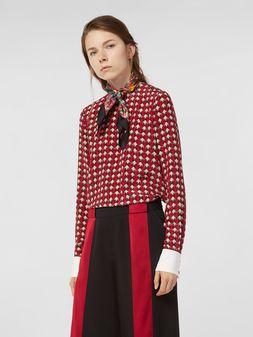 Marni Silk crepe shirt with Shell print Woman