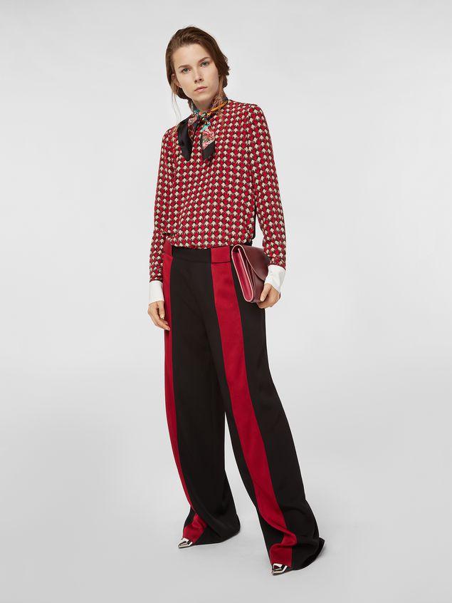 Marni Silk crepe shirt with Shell print Woman - 5