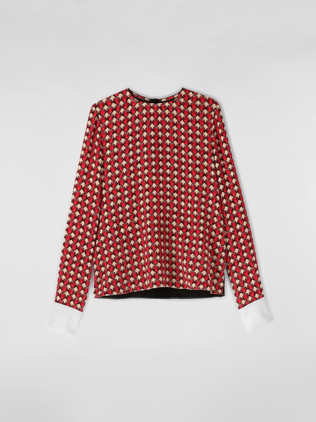 Marni Silk crepe shirt with Shell print Woman - 2