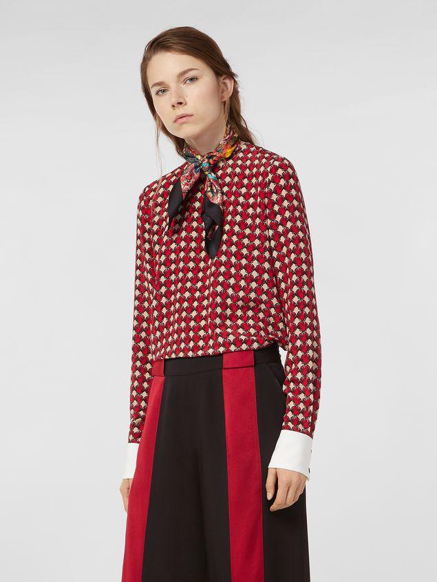 Marni Silk crepe shirt with Shell print Woman - 1