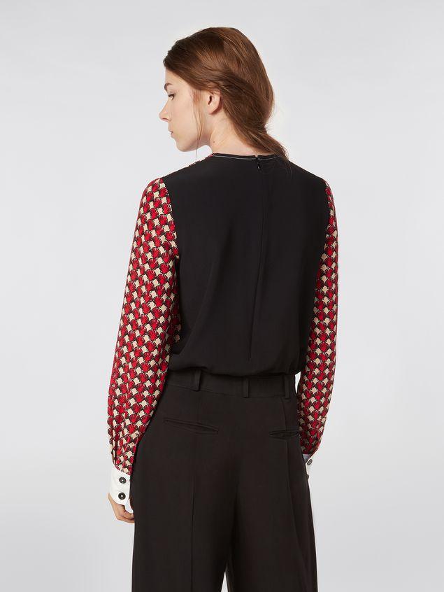 Marni Silk crepe shirt with Shell print Woman - 3