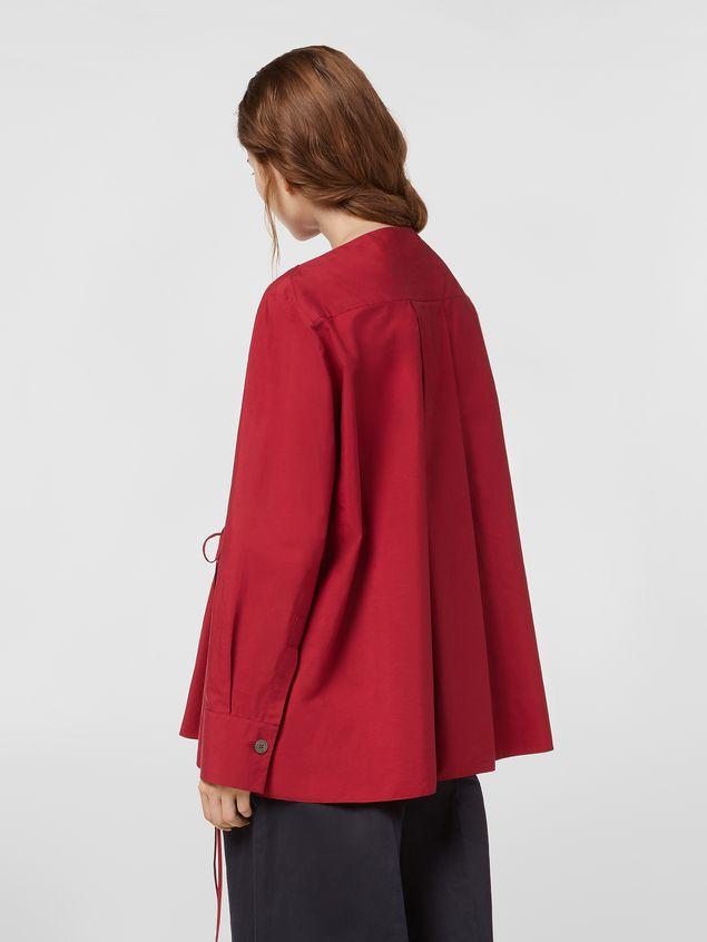 Marni Boat-neck blouse in poplin Woman