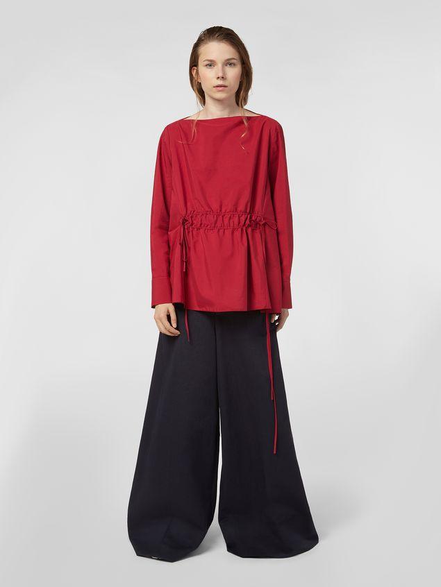 Marni Boat-neck blouse in poplin Woman - 5