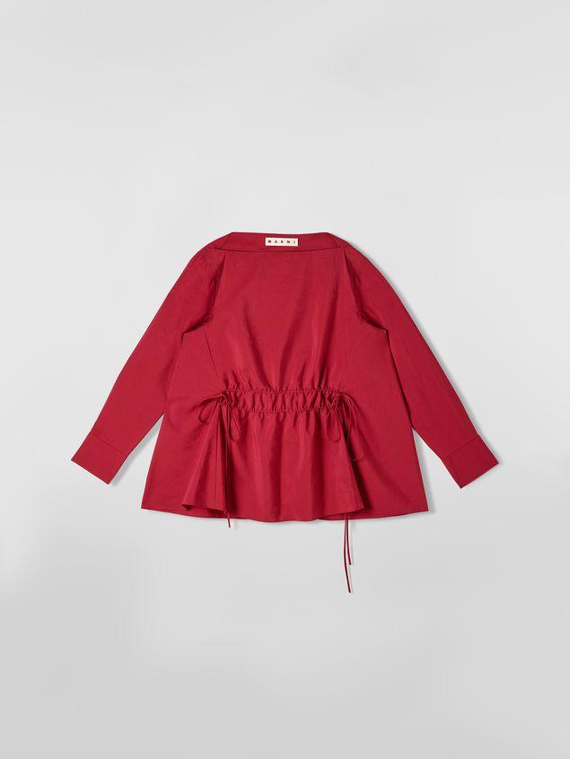 Marni Boat-neck blouse in poplin Woman - 2