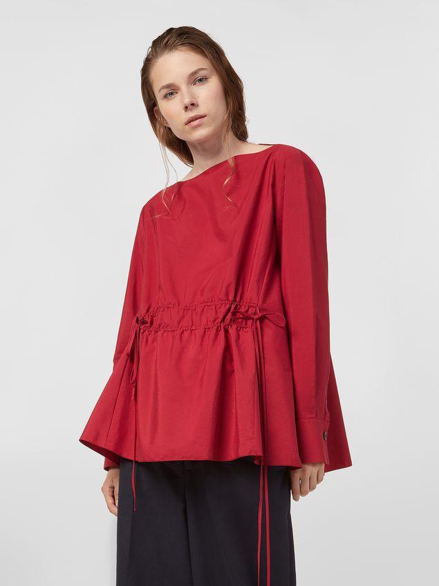 Marni Boat-neck blouse in poplin Woman - 1