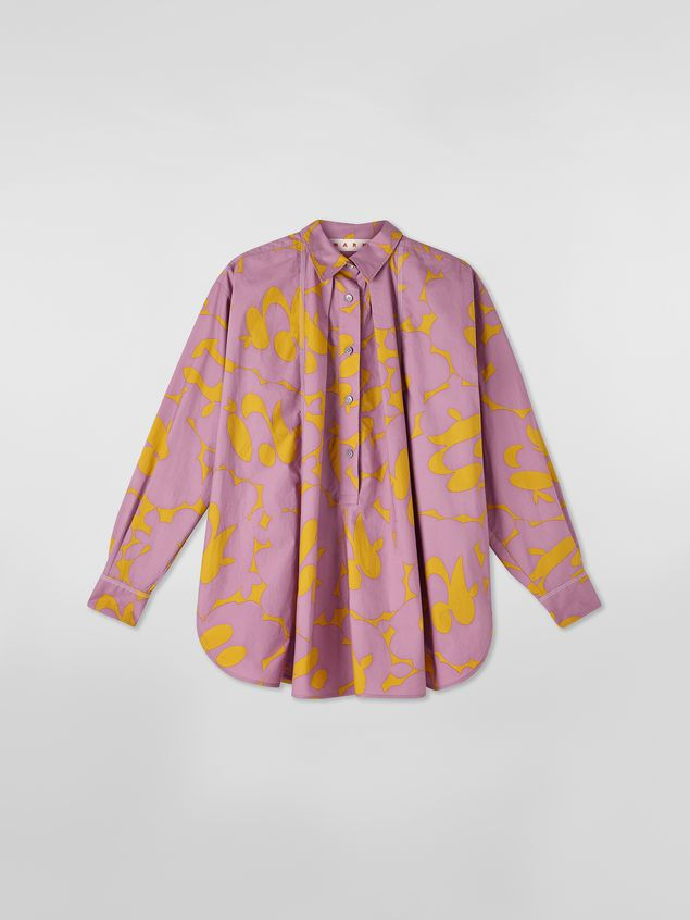 Marni Blouse in poplin with Belou print Woman - 2