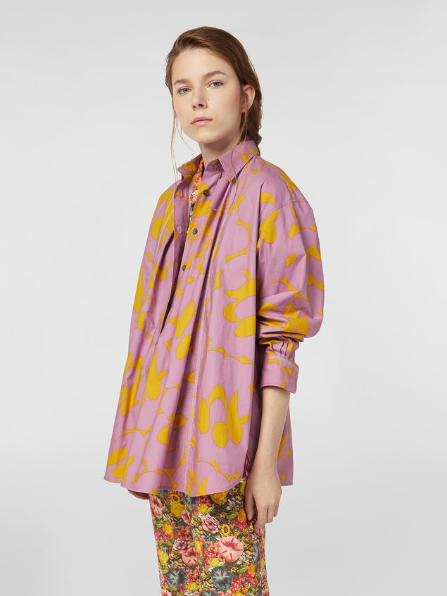 Marni Blouse in poplin with Belou print Woman - 1