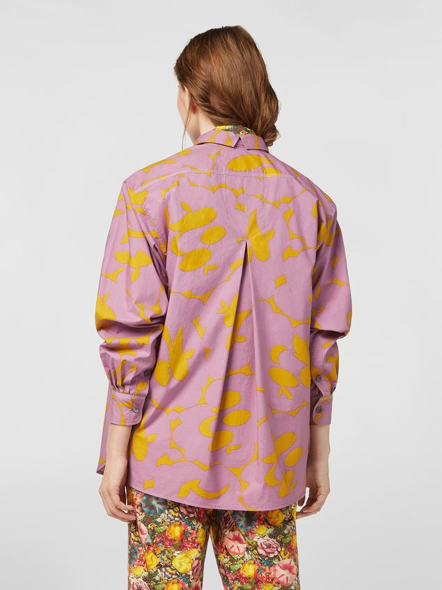 Marni Blouse in poplin with Belou print Woman - 3