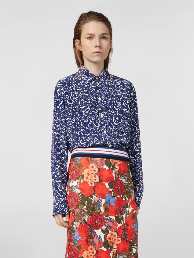 Marni Shirt in silk crepe with Lylee print Woman - 1