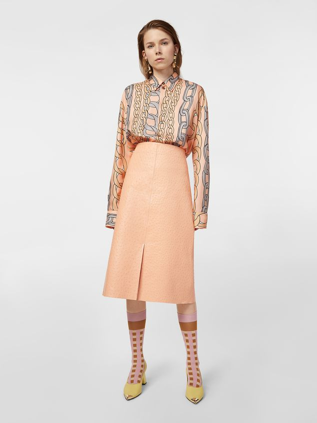 Marni Shirt in silk twill with Chaine print Woman - 5