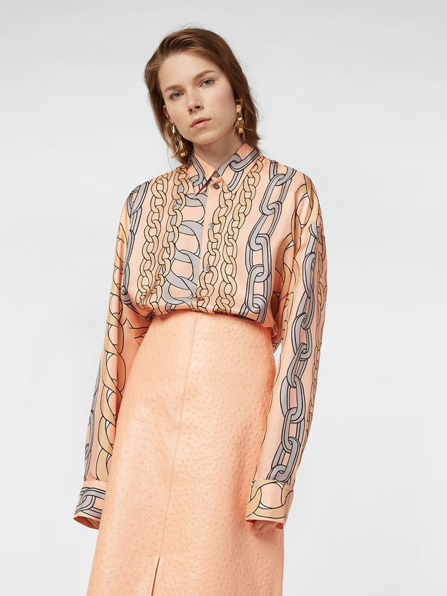 Marni Shirt in silk twill with Chaine print Woman - 1