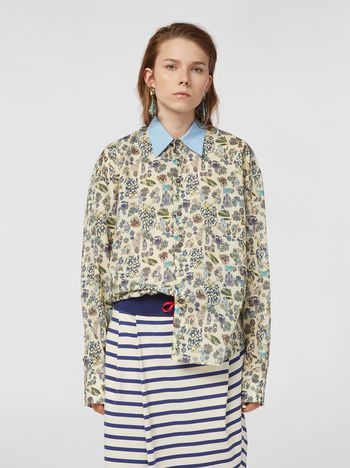 Marni Shirt in cotton voile with Maisie print Woman