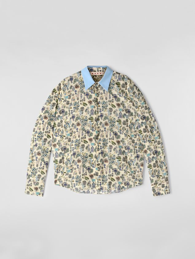 Marni Shirt in cotton voile with Maisie print Woman - 2