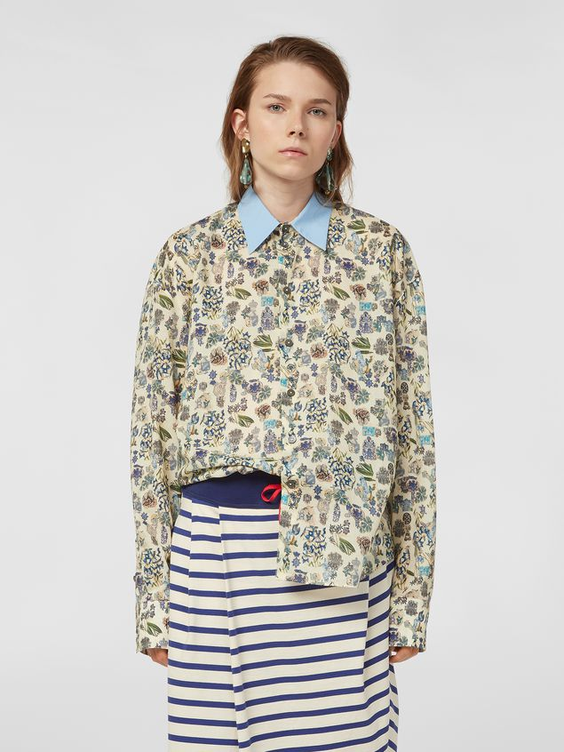 Marni Shirt in cotton voile with Maisie print Woman - 1