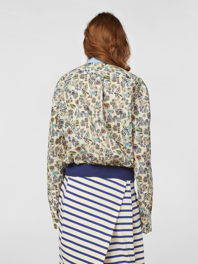 Marni Shirt in cotton voile with Maisie print Woman - 3