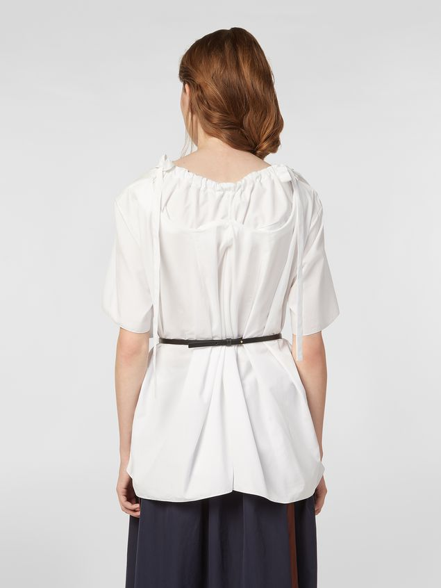 Marni Blouse in poplin with drawstring and bows Woman