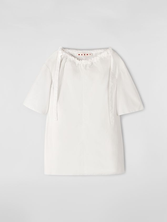Marni Blouse in poplin with drawstring and bows Woman - 2