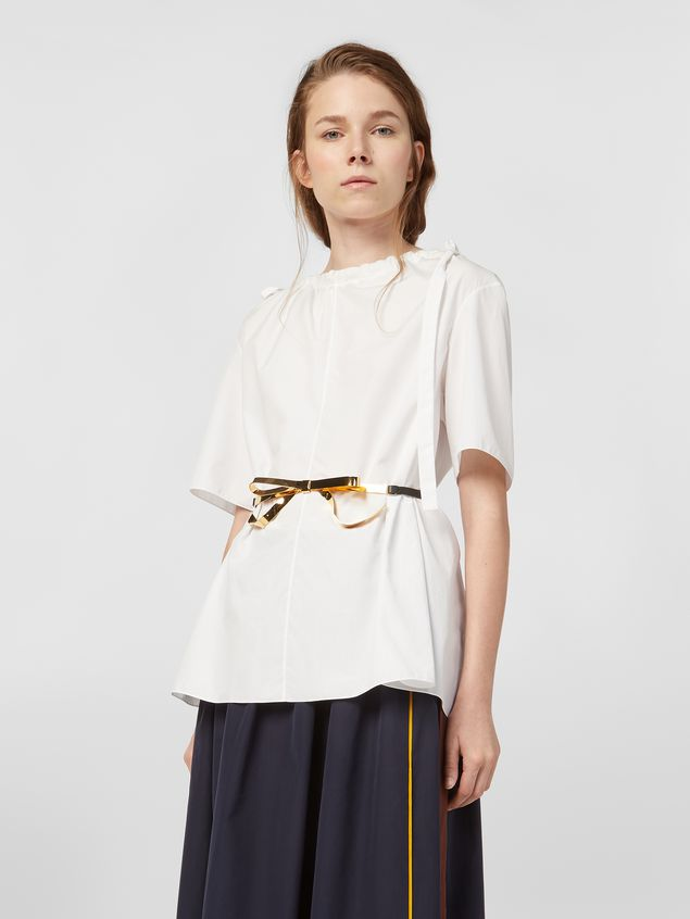 Marni Blouse in poplin with drawstring and bows Woman - 1