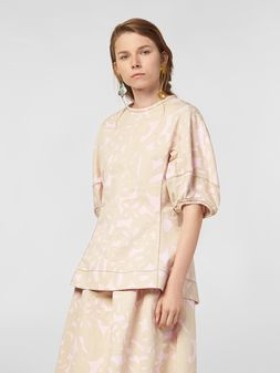 Marni Blouse in cotton drill with Danna print Woman