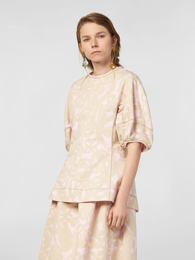 Marni Blouse in cotton drill with Danna print Woman - 1