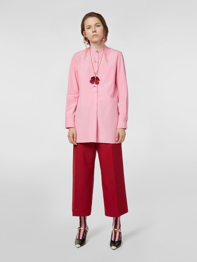Marni Nehru-neck shirt in poplin  Woman - 5
